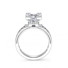 Estes Diamond Engagement Ring Casing 18K White Gold