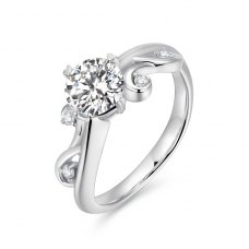 Viexianne Diamond Engagement Ring Casing 18K White Gold