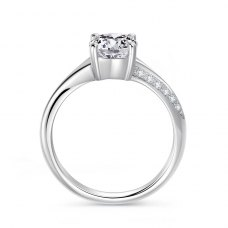 Rythelle Diamond Engagement Ring Casing 18K White Gold