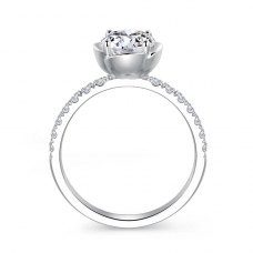 Hylos Diamond Engagement Ring Casing 18K White Gold