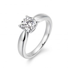 Hylia Solitaire Engagement Ring Casing 18K White Gold