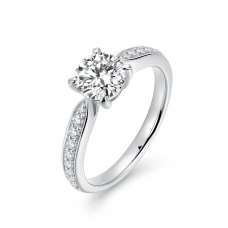 Xelia Diamond Engagement Ring Casing 18K White Gold