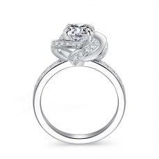 Lirox Diamond Engagement Ring Casing 18K White Gold
