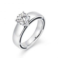 Valyne Diamond Engagement Ring Casing 18K White Gold