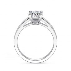 Esmria Diamond Engagement Ring Casing 18K White Gold