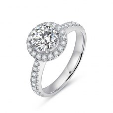 Reziea Diamond Engagement Ring Casing 18K White Gold