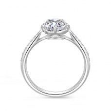 Raida Diamond Engagement Ring Casing 18K White Gold