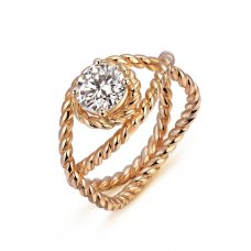Rosiea Solitaire Engagement Ring Casing 18K Rose Gold
