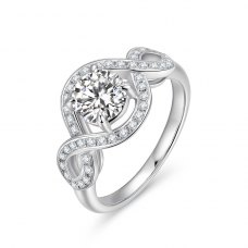 Synthia Diamond Engagement Ring Casing 18K White Gold