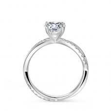 Lyrize Diamond Engagement Ring Casing 18K White Gold