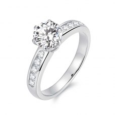 Karice Diamond Engagement Ring Casing 18K White Gold