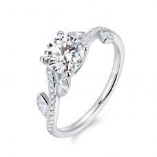 Larise Diamond Engagement Ring Casing 18K White Gold