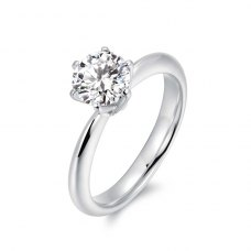 Veria Solitaire Engagement Ring Casing 18K White Gold
