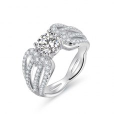 Lythia Diamond Engagement Ring Casing 18K White Gold
