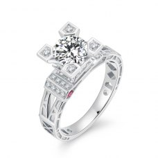 Laciane Diamond Engagement Ring Casing 18K White Gold