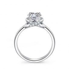 Lorrie Diamond Engagement Ring Casing 18K White Gold
