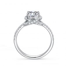 Estrel Diamond Engagement Ring Casing 18K White Gold
