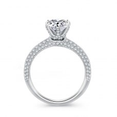 Emia Diamond Engagement Ring Casing 18K White Gold