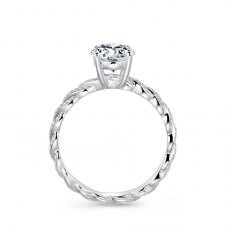 Amris Diamond Engagement Ring Casing 18K White Gold