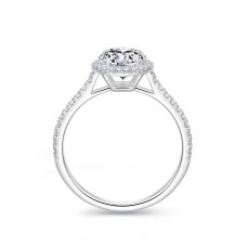 Rivis Diamond Engagement Ring Casing 18K White Gold
