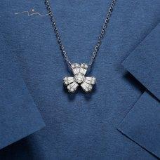 Zelin Diamond Necklace 18K White Gold