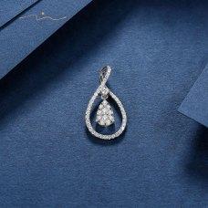 Wonsa Diamond Pendant 18K White Gold