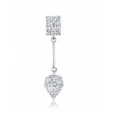 Geometric Diamond Earring 18k White Gold