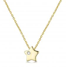 Gun Woo Bezel Necklace 14K Rose Gold