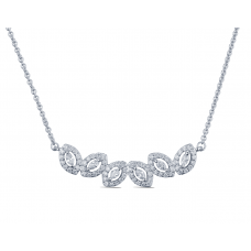 Brilla Diamond Necklace 18K White Gold