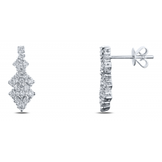 Glamorous Diamond Earring 18K White Gold
