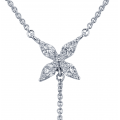 Mini Star Drop Diamond Necklace 18K White Gold