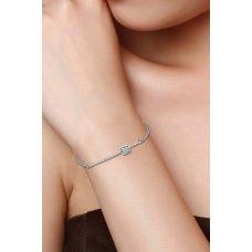 Subtle Chain Diamond Bracelet 18K White Gold
