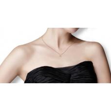 Athenia Prong Diamond Necklace 18K White Gold