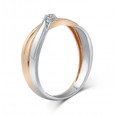 Verel Women's Wedding Ring 18K White and Rose Gold