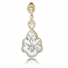 Curtis Prong Diamond Earring 18K Yellow Gold