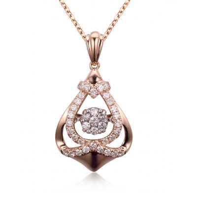 Twinkle Diamond Pendant 18K Rose Gold