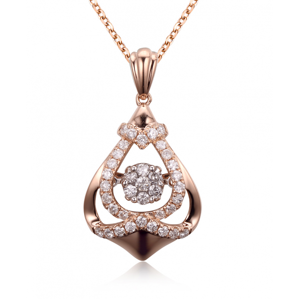 Twinkle Diamond Pendant 18K Rose Gold