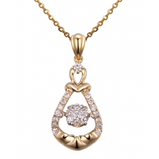 Twinkle Blink Diamond Pendant 18K Yellow Gold