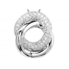 Rosquilla Pave Diamond Pendant 18K White Gold