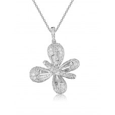 Noble Butterfly Diamond Pendant 18k White Gold