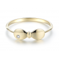 Ha Yoon Bezel Ring 14K Rose Gold