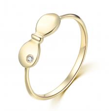 Ha Yoon Bezel Ring 14K Rose Gold
