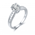 Jelio Diamond Engagement Ring Casing 18K White Gold