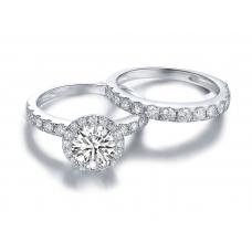 Winns Diamond Engagement Ring Casing 18K White Gold (2 in 1)