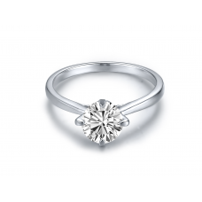 Gizmo Solitaire Engagement Ring Casing 18K White Gold