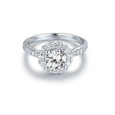 Mondio Diamond Engagement Ring Casing 18K White Gold