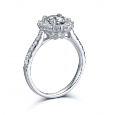 Mondio Diamond Engagement Ring Casing 18K White Gold