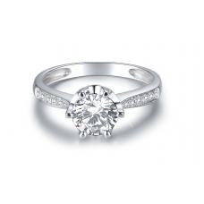 Dolce Diamond Engagement Ring Casing 18K White Gold