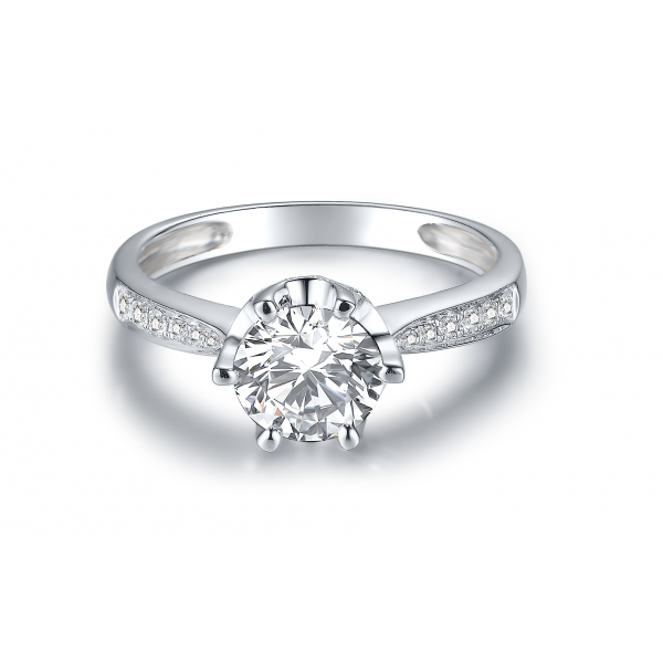 Dolce Diamond Engagement Ring Casing 18K White Gold
