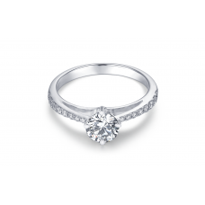 Erichio Diamond Engagement Ring Casing 18K White Gold